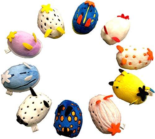 ウミウシマグネット 全10匹 ぬいぐるみセット かわいいマグネット ウミウシの仲間たち