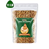 LUCKYQ Mealworms 11Lbs, High-Protein Bulk Dried...