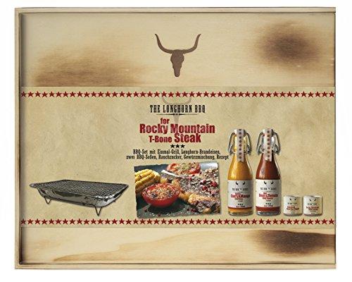 Feuer & Glas The Longhorn BBQ Grillsoßen Set für das Rocky Mountain T-bone Steak