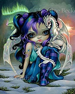 """""""Frost Dragonling"""" SIGNED Glossy Photo Art Prints by Jasmine Becket-Griffith"""