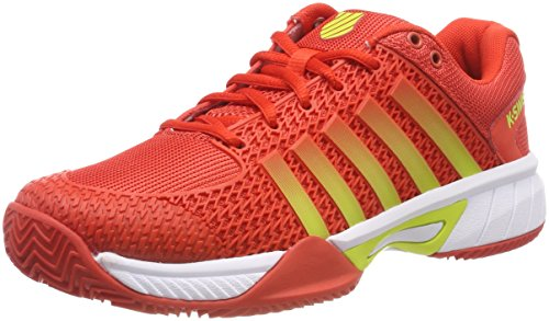 K-Swiss Performance Damen Express Light HB Tennisschuhe, Rot (Fiesta/White/Neon Citron 50), 38 EU