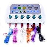 WANGIRL Massaggiatore 6 Canali Elettrostimolatore Multifunzione TENS Muscolare Massaggio Agopuntura Meridiano Elettrostimolatore Muscolare Macchina per Fisioterapia Agopuntura