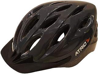 Capacete para Ciclismo MTB com LED Tam. G Viseira Removível e 19 Entradas de Ventilação Cinza - BI137  Atrio Adultos