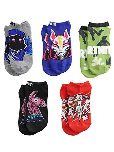Boys Fortnite 5-Pack Socks (9-11, Camo)