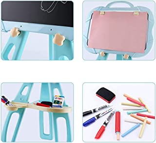 Children's Easel Children's Double Sided Black and White Board Table Easel Learning Easel Painting Chalkboard for Kids Sui...
