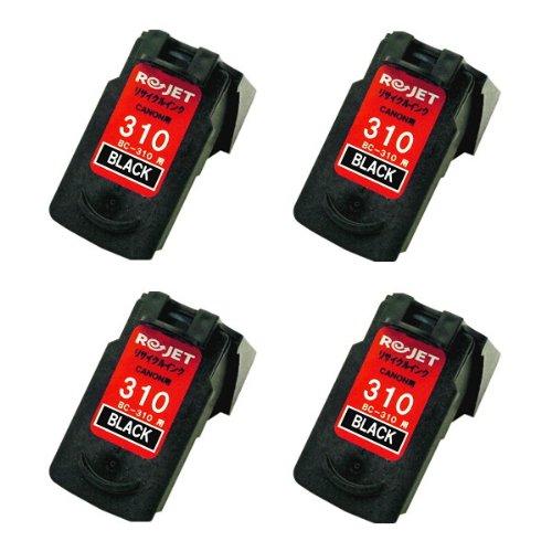 キヤノン BC-310 ブラック(4個入) リサイクルインク Canon PIXUS FINEカートリッジ ピクサス インクジェットプリンター用