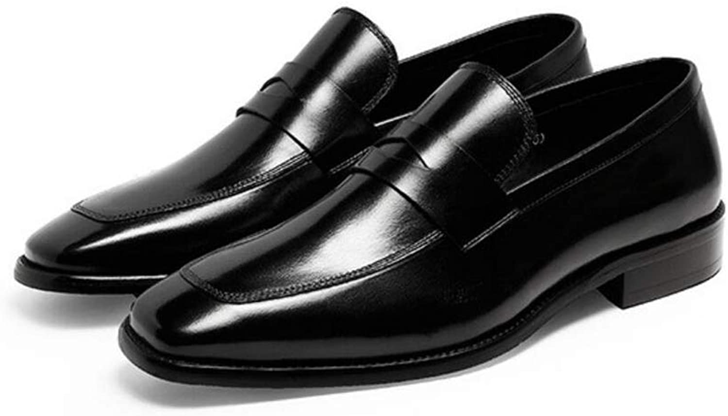 Haiyao Men's High-End Business Dress shoes, Easy to Wear Off The Feet shoes, for Office Business Party Wedding