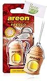 Areon, fresco, deodorante per auto da 4ml, profumo di cocco, diffusore da appendere e copertura in legno naturale, a lunga durata