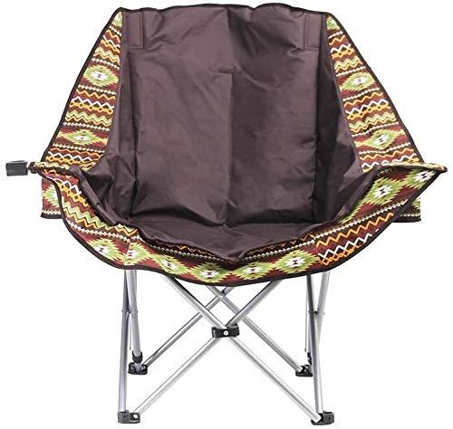 Chaises de camping pliant léger Porte-gobelet Cadre en acier rembourré ronde portable Chaise de plage avec sac Carry