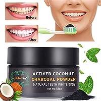 Blanqueamiento dental,Carbon Activado Dientes,Polvo Dientes, Blanqueador De Dientes ingredientes activos de coco. Blanqueador seguro para goma sensible
