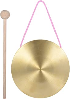 Walmeck 15cm Hand Gong Cymbals Brass Copper Chapel Opera Percussion Instruments with Round Play Hammer