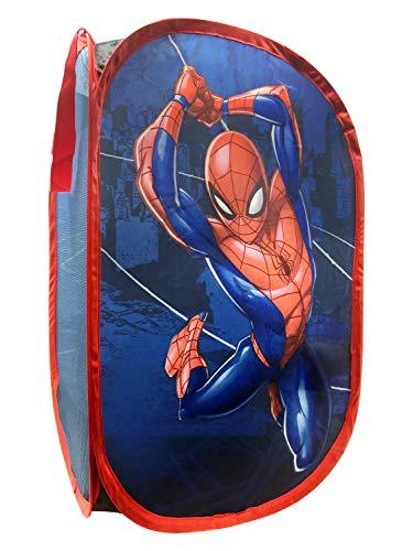 Jay Franco Marvel Spiderman Panier à linge en maille avec poignées durables (produit officiel Marvel)