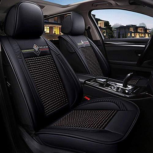 Asiento de coche cubierta del asiento del conductor cubiertas del asiento protector Auto Accesorios for auto, Comfort protector de cuero 5 Cojín de asiento frontal y posterior Sistema completo de los
