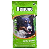 Organic vegan dog food from Benevo. Complete meat-free dry dog food. Wheat free dried kibble, hypoallergenic & healthy. Holistic & non-gm 15kg