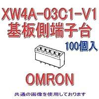 オムロン(OMRON) XW4A-03C1-V1 (100個入) コネクタ端子台基板側端子台 プラグ ストレート端子 NN