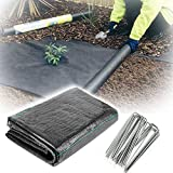 XUEXUE Weed Barrier Fabric, Weed Membrane Permeate Water and Tearproof 90gsm Ground Cover Membrane, for Garden, Flower Beds, Landscaping (Color : Black, Size : 1.2X15M)