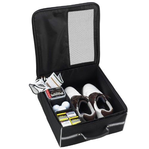 GIFTS PLAZA (D) Golf Trunk Organizer Storage, Waterproof Foldable Bag (Black)