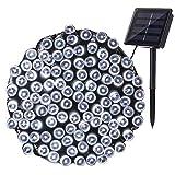NEXVIN Luci Natale Esterno Solare 22M 200 LED, Stringa di Luci a Energia Solare Impermeabile, 8 Modi, Luci Natalizie da Esterni, Addobbi Natalizi a Albero di Natale, Balcone, Patio (Bianco)