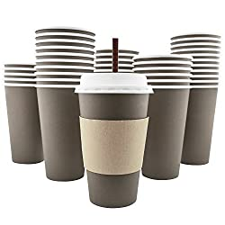 Ackbrands 100 Pack Paper Coffee Cups