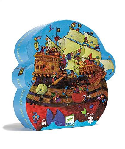 Djeco- Piratas del Caribe Puzzle La Batalla de Barbaroja (DJ07241)