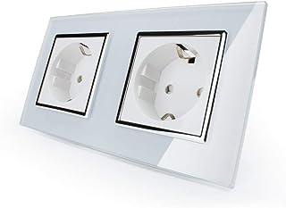 Doppel Steckdose Livolo Elektrischer Steckdosen EU 2-polig +
