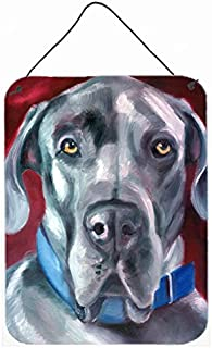Caroline's Treasures 7310DS1216 Great Dane Natural Ears Blue Collar Wall or Door Hanging Prints, 16 x 12, Multicolor