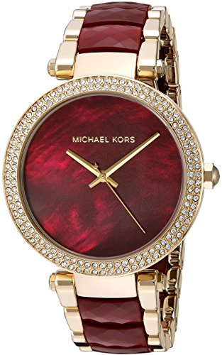Michael Kors Women's Parker Red and Gold Watch MK6427