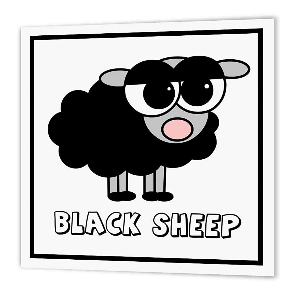 3dRose ht_6158_3 Little Black Sheep Design Iron on Heat Transfer, 10 by 10