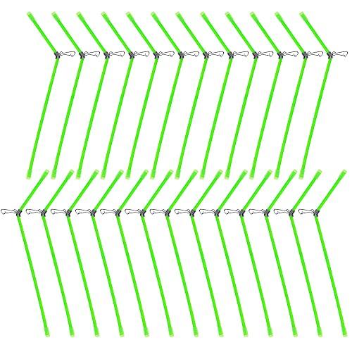 Rayong 25 Stück Anti Tangle Boom mit Wirbel, Fishing Anti Tangle Boom Set, Anti Boom Mit Wirbel Grün Anti-Tangle Feeder Für Karpfen-Angeln