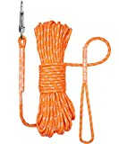 TagME 15M/50ft Long Dog Training Leads,Reflective Puppy Dog Rope Leads,Orange