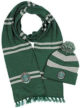 Harry Potter Hogwarts Houses Knit Slytherin Scarf & Pom Beanie Set  Slytherin