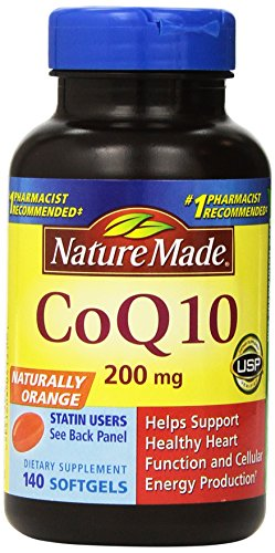 Nature Made CoQ10 Coenzyme Q10 200 mg - 2 Bottles, 140 Softgels Each