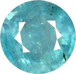 Deluxe Gems 0.53 ct Round Cut (5 x 5 mm) Unheated/Untreated Greenish Blue Grandidierite Natural Gemstone