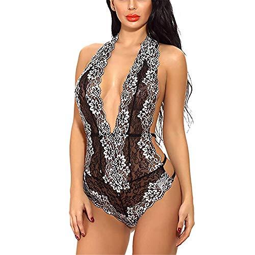 Sexy Unterwäsche Weibliche Unterwäsche Exotisches Kostüm Sexy Spitze Pyjamas Tragen Keine Kleidung Schwarze Pornopuppen XXL Sexy Dessous Spitze