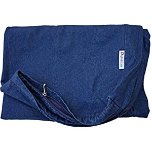 Heavy Duty Navy Blue Denim Jean Dog Pet Bed External Duvet Cover for Small Medium to Extra Large Pet Bed – Replacement Cover only