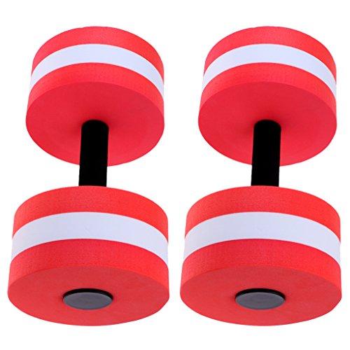 menolana 2Pcs Fitness Dumbbell, Foam Heavy Resistance Barbells Pool Barbell Float Exercises Equipment for Water Aerobics