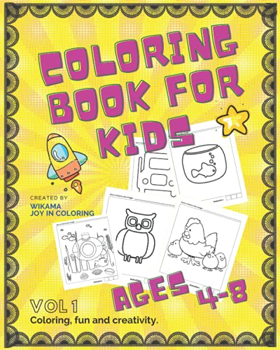 Coloring books for kids ages 4-8: 118 Fun and varied images for coloring for children, enjoy coloring and unleash your creativity, 128 paperback pages.