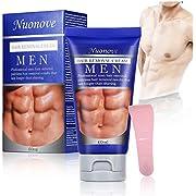 Enthaarungscreme, Haarentfernungscreme, Hair Removal Cream, Enthaarungsmittel Schmerzlose für Bikini/Unterarm/Brust/Rücken/Beine/Arm und Privater Bereich, für Männer, PLUS 1 Kunststoffschaber, 60ml