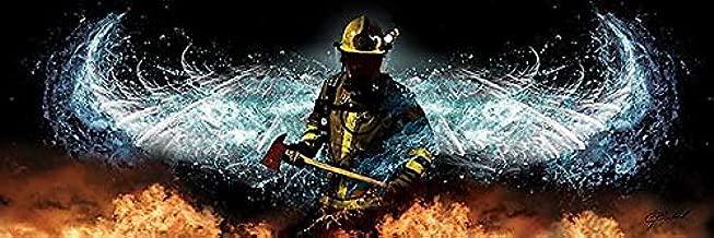 Baptizing Hell by Jason Bullard Firefighters Angel Wings Inspirational Poster 36x12