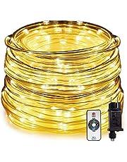 HAUSPROFI 15M 200 LEDS lichtslang met afstandsbediening, lichtketting, 8 modi en helderheid dimbaar, aangedreven, waterdicht, ideaal voor buitenshuis, kerstverlichting, decoratie, feest, feest, bruiloft [energieklasse A +++]