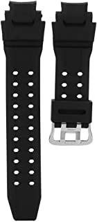 Rosvola Watch Wrist Band Strap, Soft Black Color PU Leather Watches Bands Replacement Fit for G Shock GA-1000/1100 GW-4000/A1100 G-1400