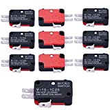 Szliyands V-15-1C25 125V/250V 15A Push Button SPDT Momentary Snap Action 1 NO 1 NC Micro Limit Switch 10-Pack