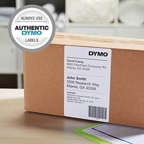 DYMO LW Extra-Large Shipping Labels for Printers, White, 4'' x 6'', 1 roll of 220 (1744907)