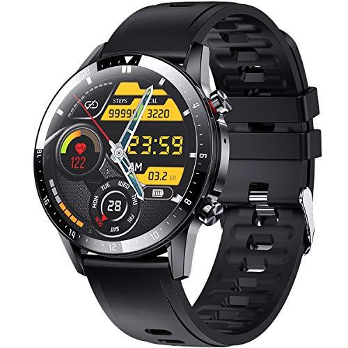 ieverda smartwatch,Fitness Watch Uhr Voller Touch Screen IP68 Wasserdicht Fitness Tracker Sportuhr mit Schrittzähler Pulsuhren Stoppuhr für smartwatch Damen Herren für iOS Android