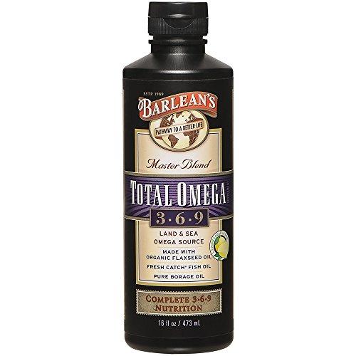 Barlean's Total Omega Oil 3-6-9, Lemonade Flavor, 16-oz