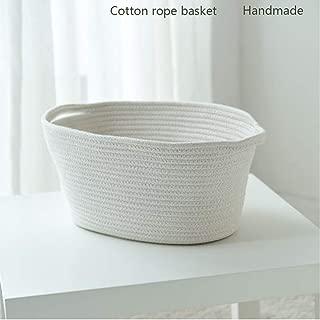Shelia Large Storage Baskets, Laundry Hamper, Cotton Rope Woven Baskets, Beautiful Romantic Bohemian Style (Creamy White), 19 (L) 12 (W) 12 (H) inches