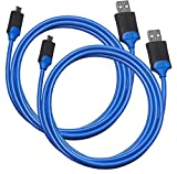 Amazon Basics - Cable de carga para mando de PlayStation 4 - Pack de 2