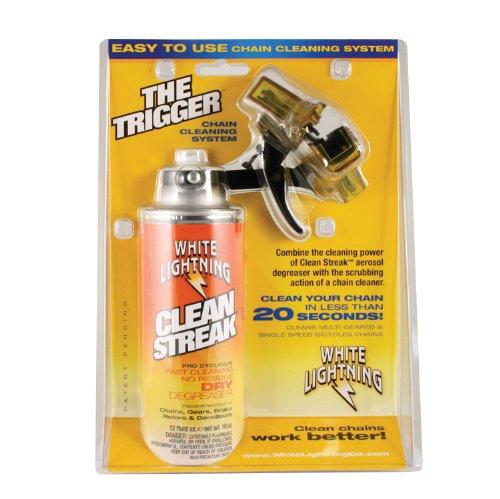 White Lightning Produit d'entretien The Trigger Chain Cleaner+Clean Streak-12oz 360ml