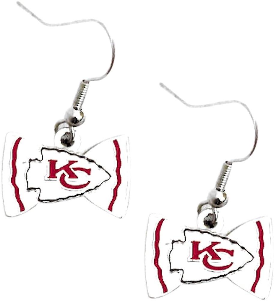 Sports Team Seattle Seahawks Bow Tie Dangle Earring Set
