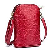 AHECZZ Key case,Retro Messenger Bag Mini Messenger Bag Coin Purse 20cmx14cmx7cm winered